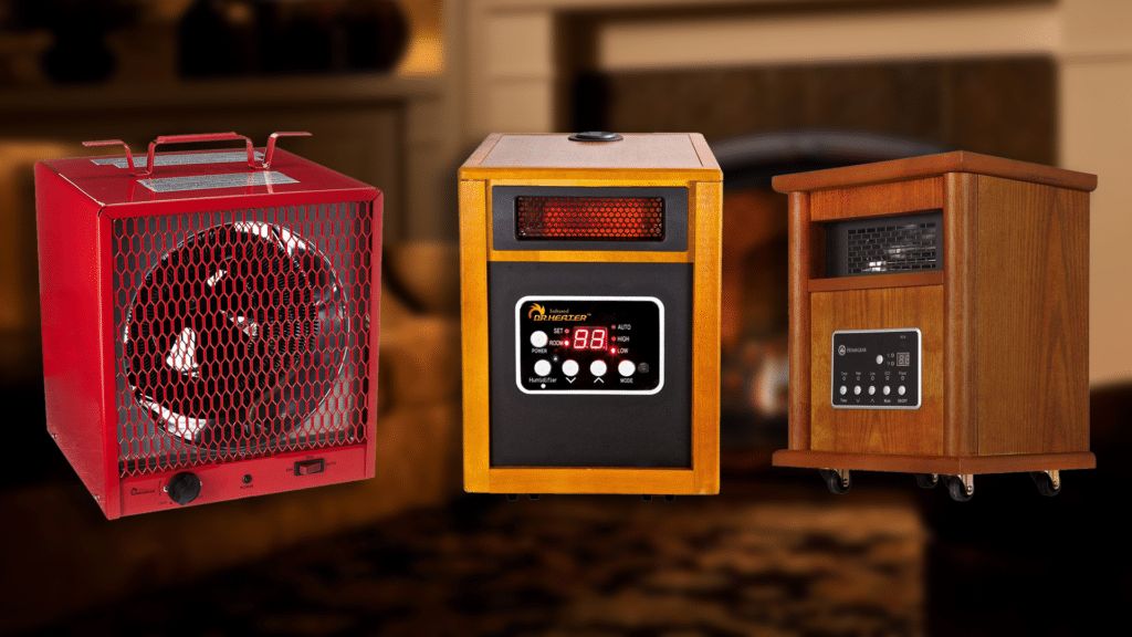 Amazon. Com: electric space heater -1500w infrared heater with 3.