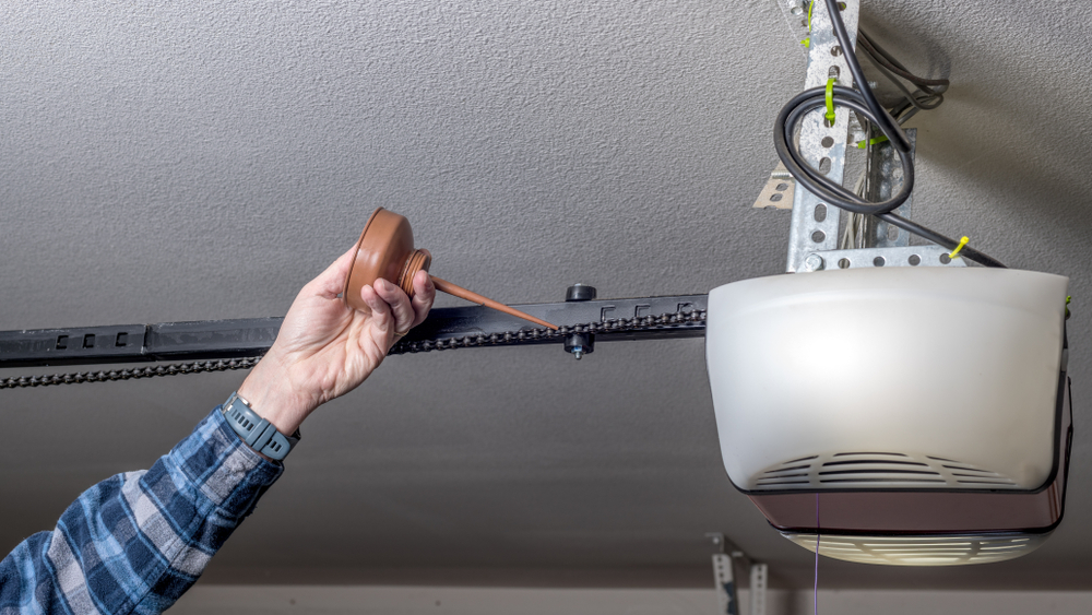 lubricate a garage door or garage door opener yourself